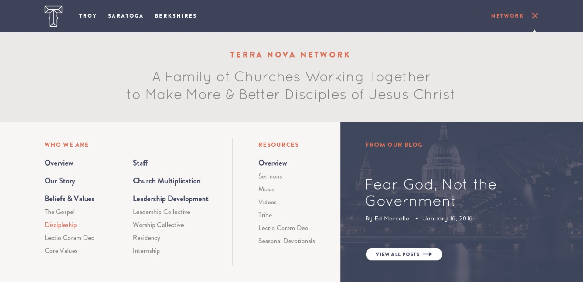 Terra Nova Church header image